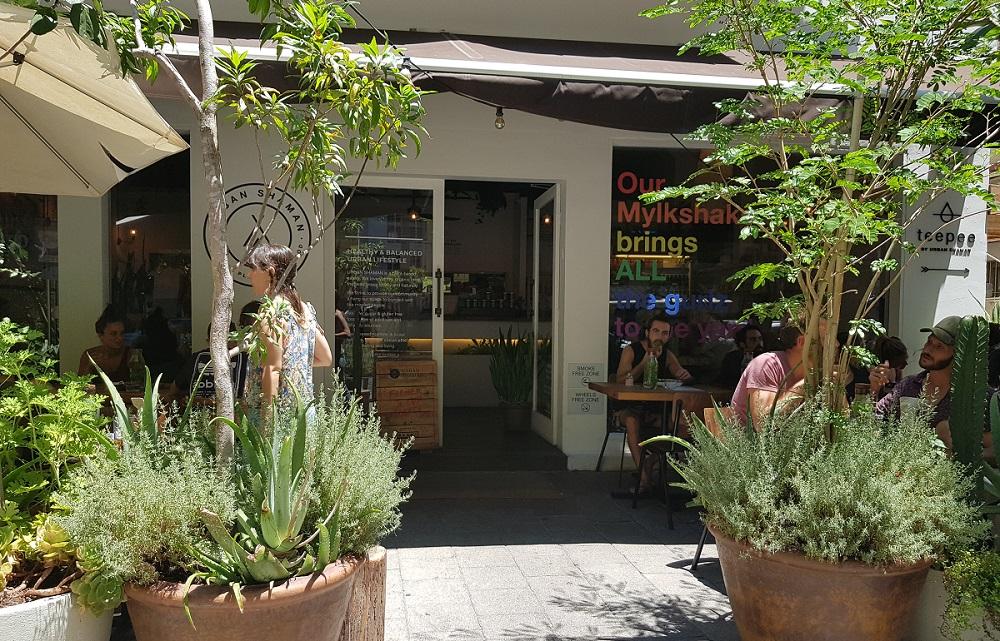 חזית בית הקפה אורבן שאמן בדיזנגוף תל אביב