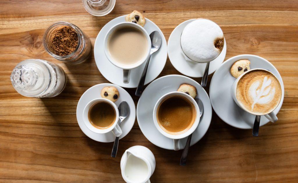 סוגי קפה איטלקי שונים. צילום: Cyril Saulnier
