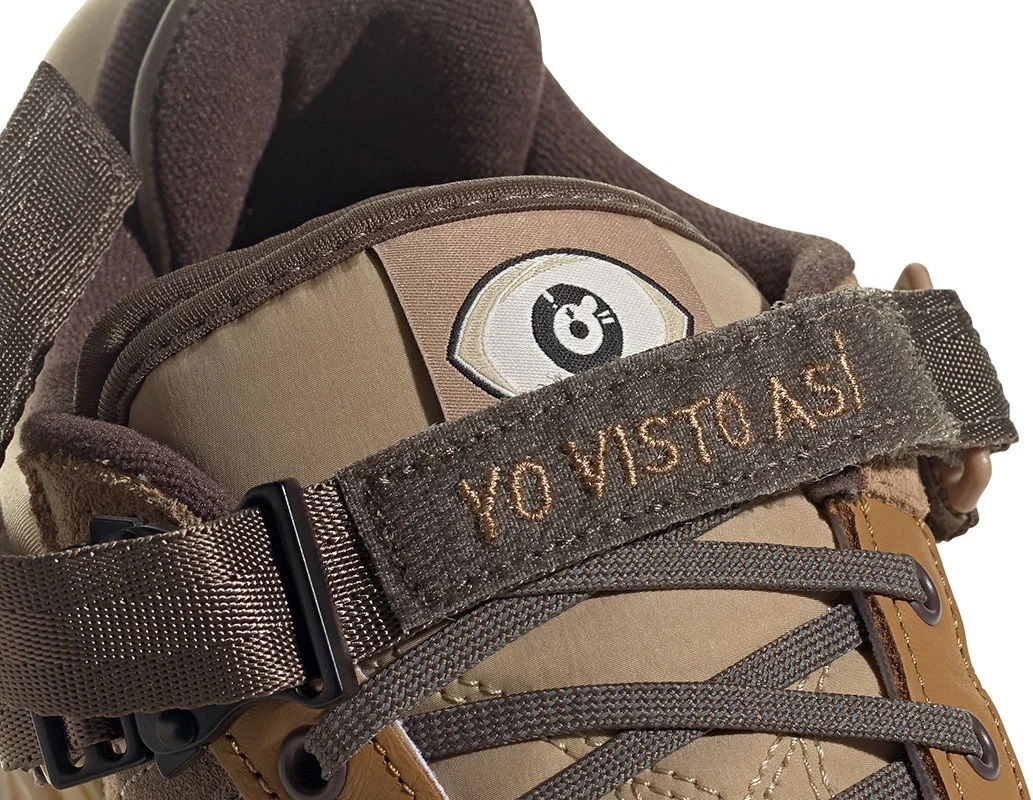 YO VISTO ASÍ על נעלי adidas Forum Low Buckle של באד באני. צילום: אדידס