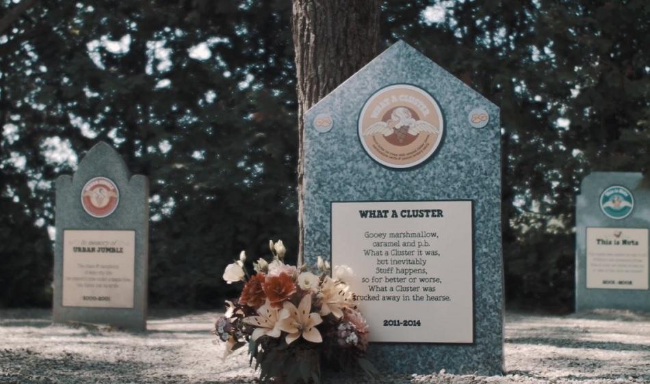 בית הקברות לטעמים של גלידות בן אנד ג'ריס. צילום: מתוך יוטיוב