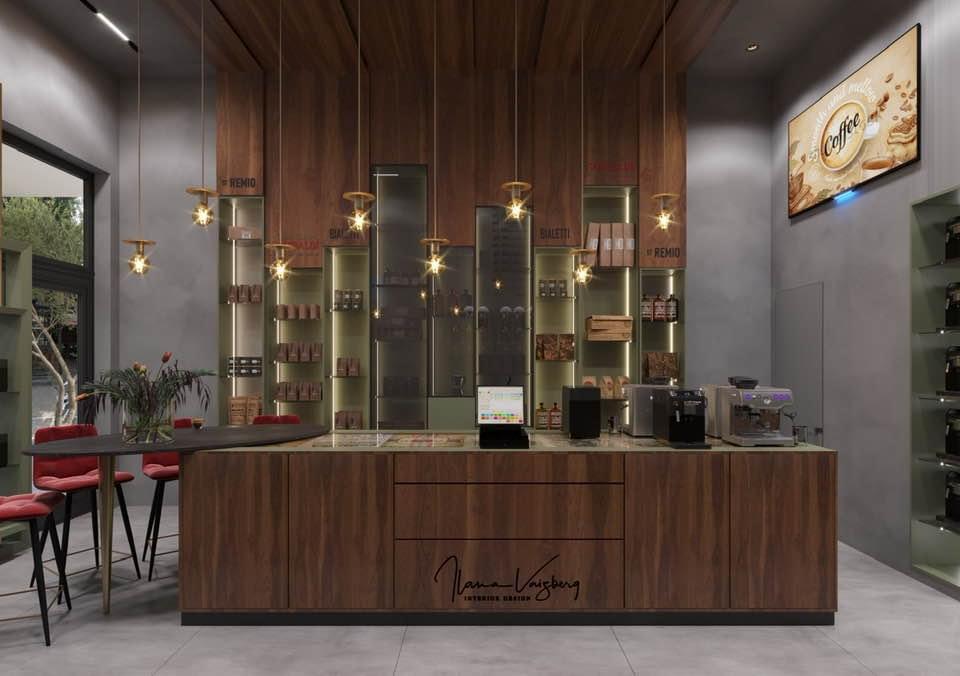 חנות Bialetti הראשונה באבן גבירול. הדמיה: אילנה וייזברג