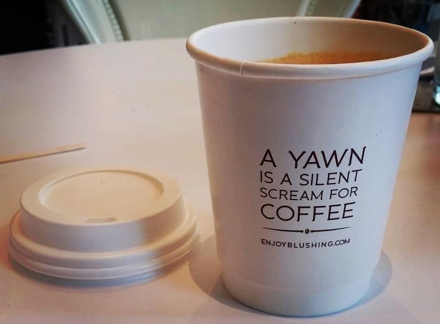 קפה לקחת. להימנע כשלא ממהרים