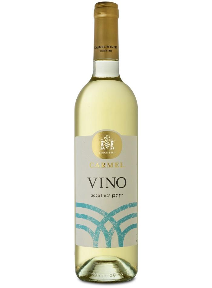 יין לבן יבש מסדרת VINO של יקבי כרמל. צלום: איל קרן