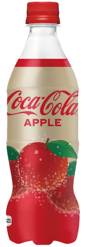בקבוק 500 מל של קוקה קולה בטעם תפוח