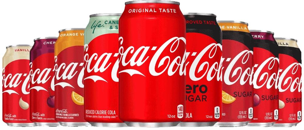 סדרת הטעמים של מותג Coca-Cola