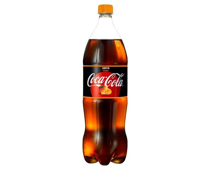 """בקבוק ליטר וחצי קוקה קולה זירו בטעם מנגו. צילום: יח""""צ"""