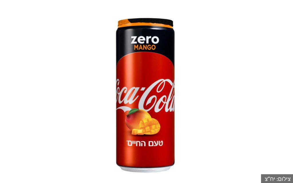 """פחית קוקה קולה זירו בטעם מנגו. צילום: יח""""צ"""