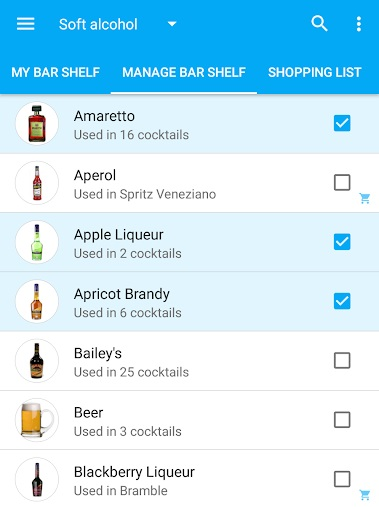 צילום מסך מתוך האפליקציה My Cocktail Bar