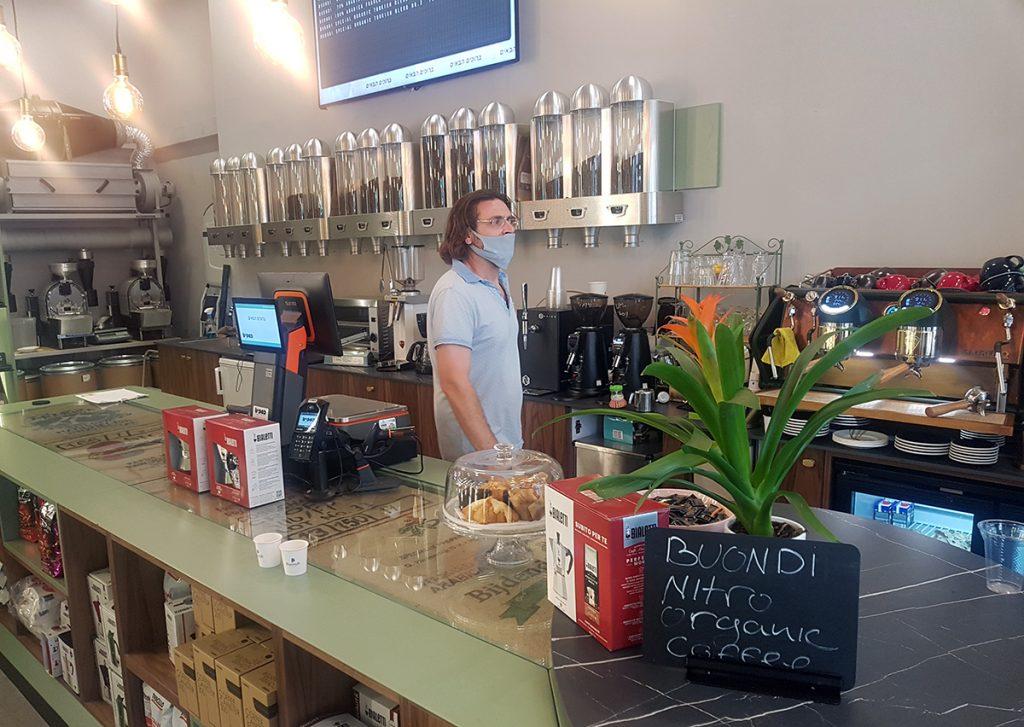 פולי קפה חנות קפה Coffee Brands באבן גבירול. צילום: מגזין שותים