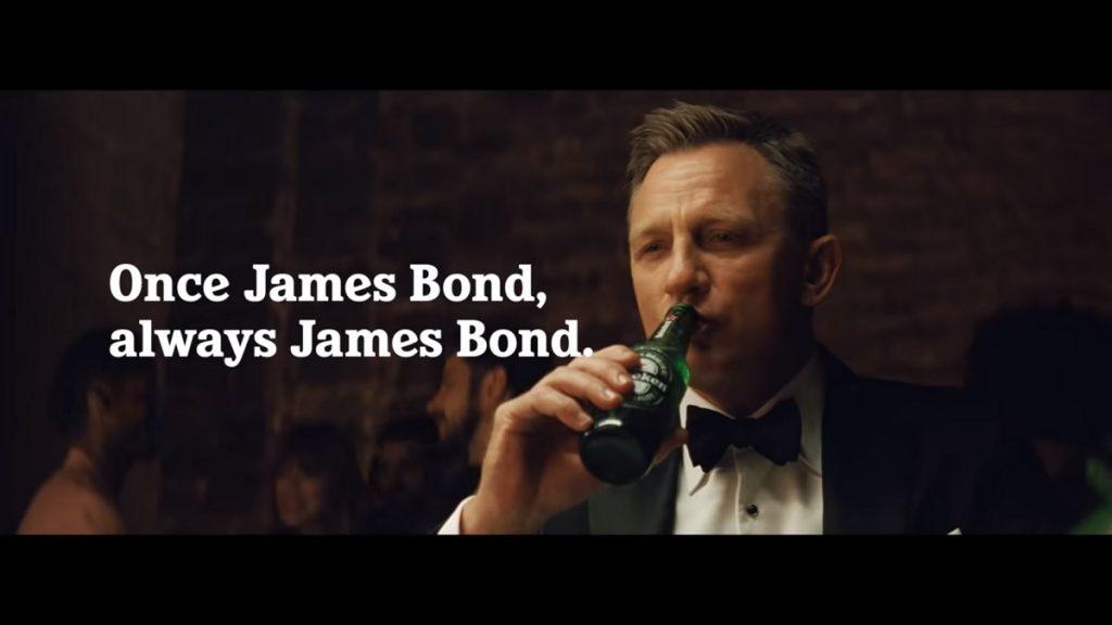 דניאל קרייג כג'יימס בונד בפרסומת להייניקן. צילום: מתוך יוטיוב