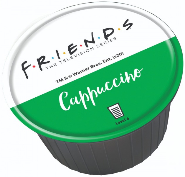 קפסולת קפה רשמית של הסדרה Friends בטעם קפוצ'ינו