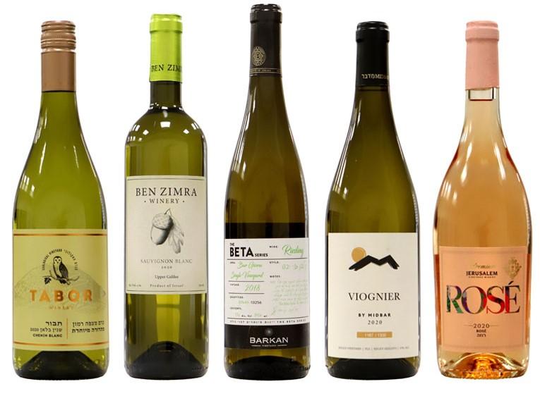 יינות לבנים זוכים בתחרות אשכול הזהב 2021. צילום: Sommelier