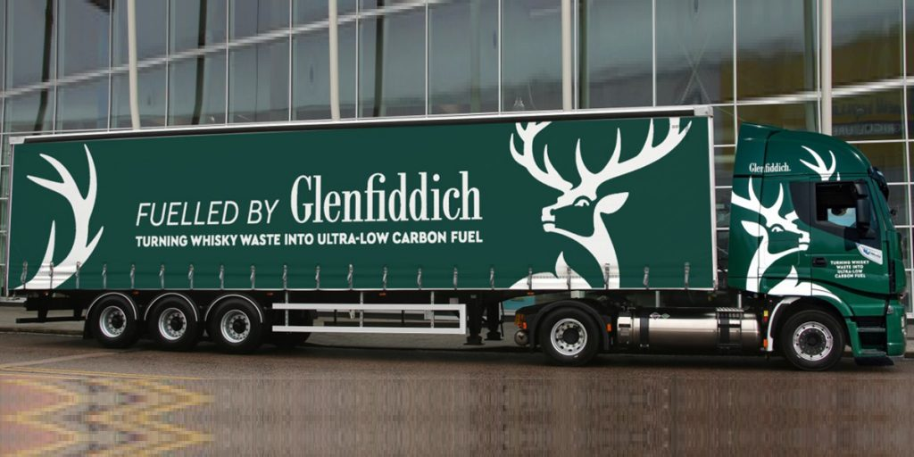 Fuelled by Glenfiddich - משאית שמתודלקת בדלק ביוגז של גלנפידיך. צילום: William Grant & Sons