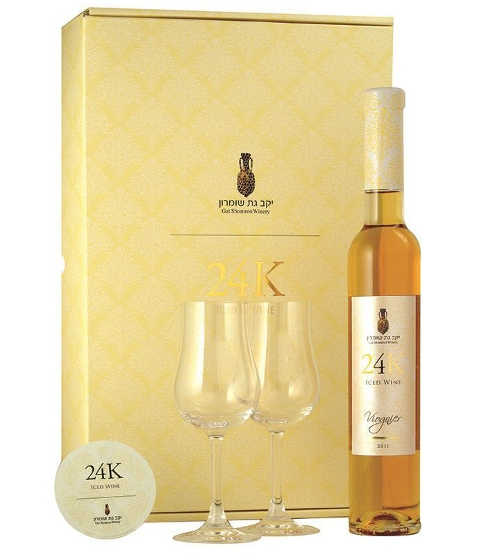 """יין קרח - ויונייה 24K של גת שומרון. צילום: יח""""צ"""