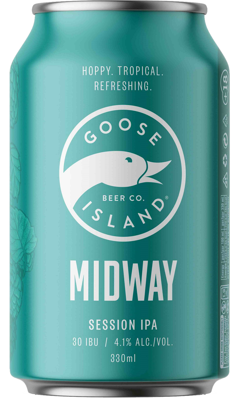 """פחית בירה Goose Island Midway Session IPA. צילום: יח""""צ"""