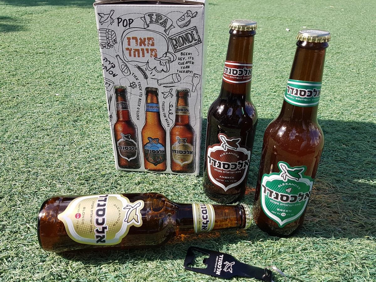 מארז יום העצמאות של בירה אלכסנדר. צילום: מגזין שותים