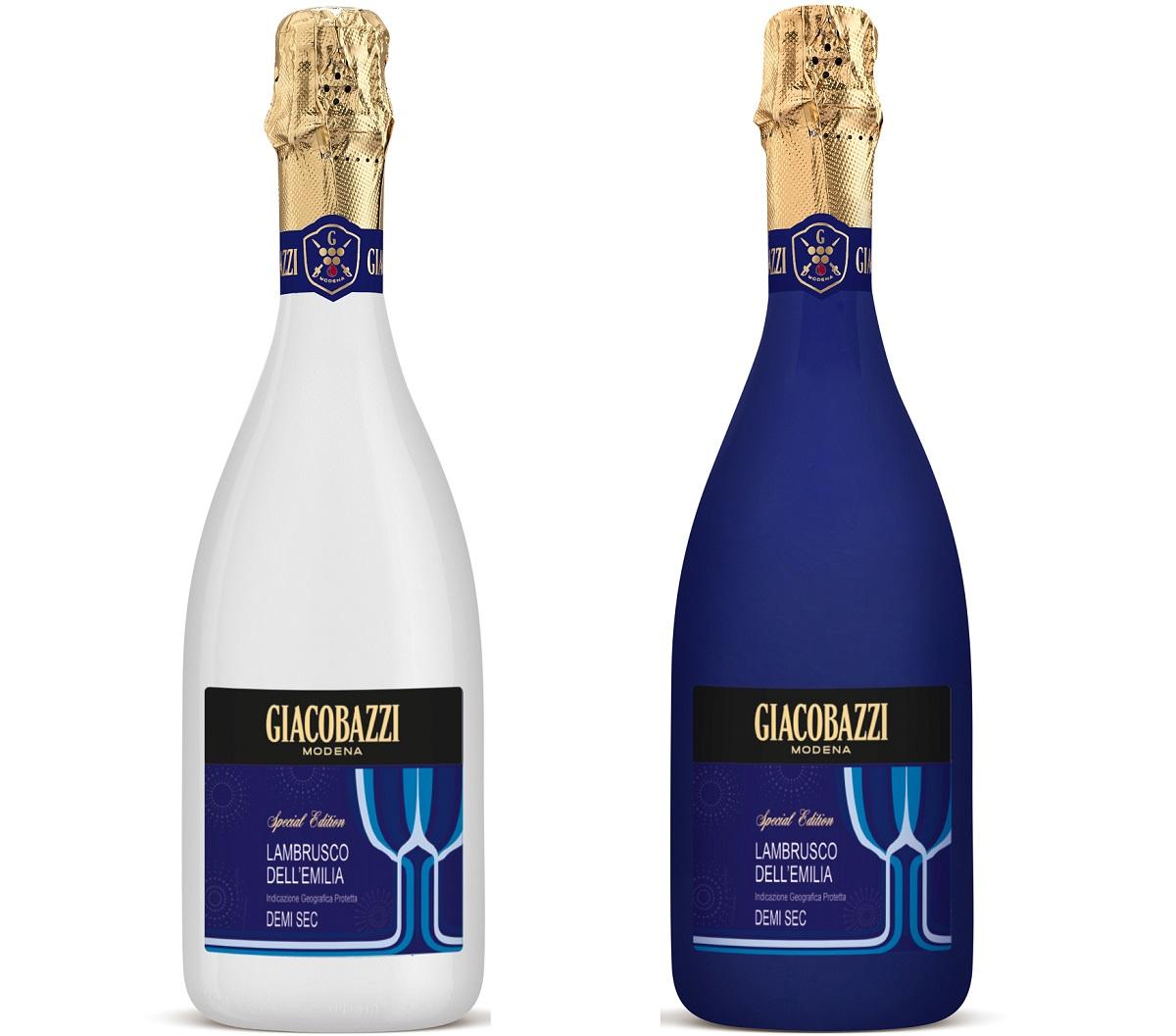 למברוסקו כחול-לבן תוצרת איטליה של Giacobazzi. צילום: איל קרן