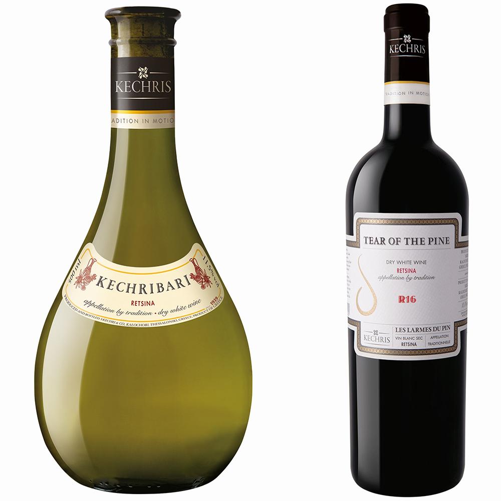 """יינות רצינה של יקב קכריס. מימין: דמעת האורן, קכריבארי. צילום: באדיבות """"הכרם"""""""