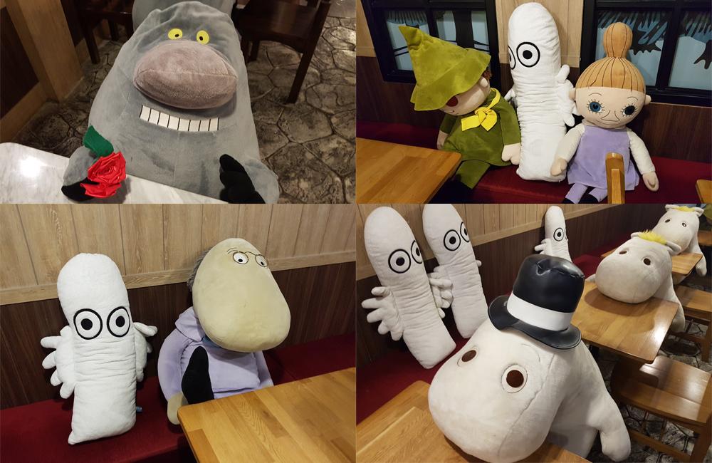בובות של דמויות מעמק המומינים