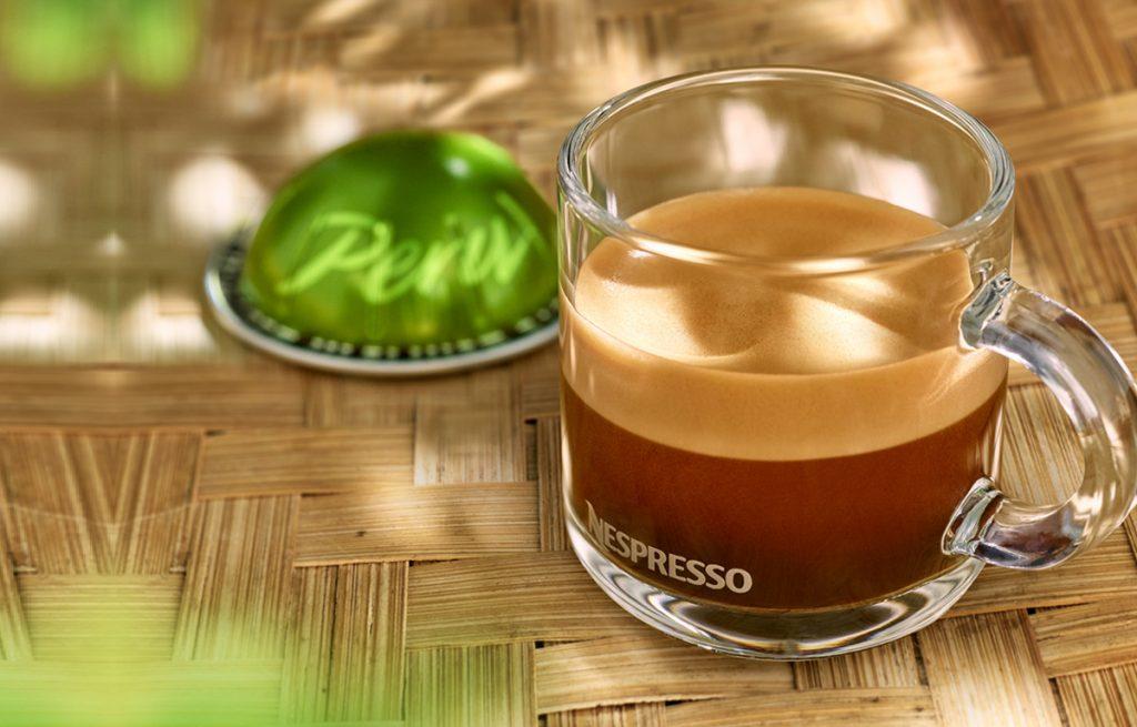 כוס אספרסו וקפסולת קפה פרו אורגני למכונות נספרסו ורטו