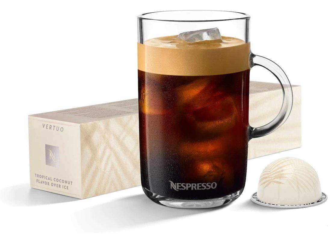 קפה קר נספרסו בטעם קוקוס למכונות ורטו. צילום: Nespresso