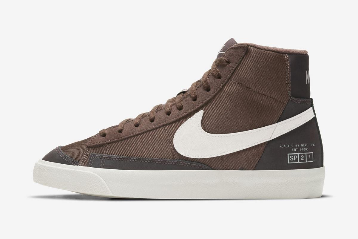 נעלי נייק בלייזר 77' בצבעי קפה. צילום: Nike