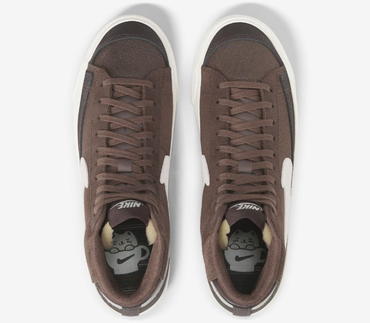 נעליים Nike Blazer Mid 77' Coffee. צילום: נייק
