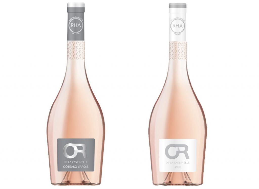 """יינות רוזה כשרים מסדרת Or de la Castinelle. צילום: """"הכרם"""""""