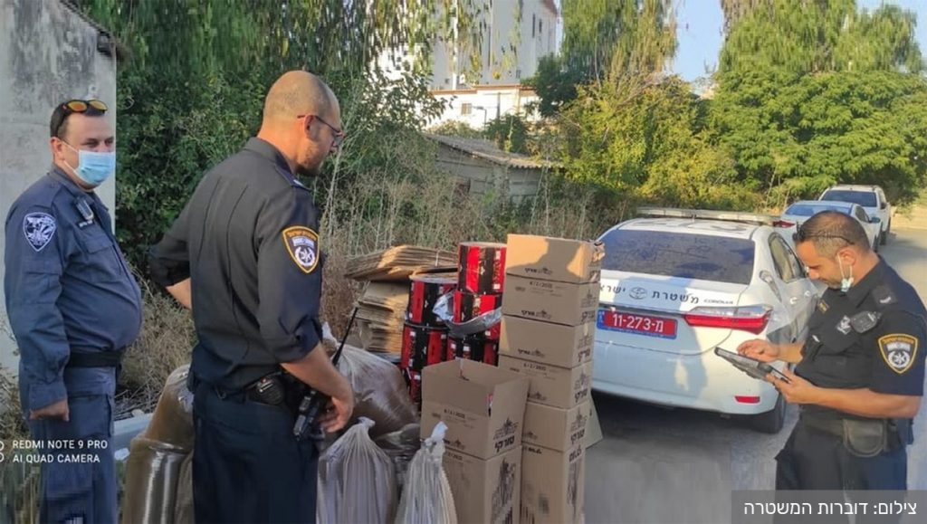 המשטרה תפסה בעפולה 570 קילוגרם קפה שחור מזויף של עלית. צילום: דוברות המשטרה
