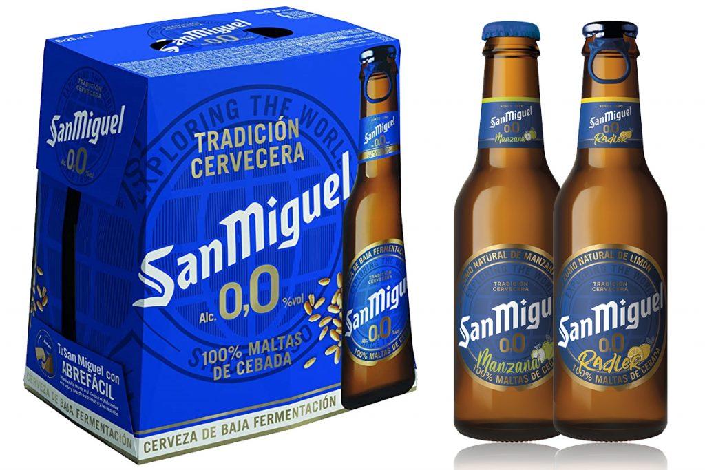 """סן מיגל 0.0 בירה ללא אלכוהול בטעמים פילזנר, תפוח ולימון. צילום: יח""""צ חו""""ל"""