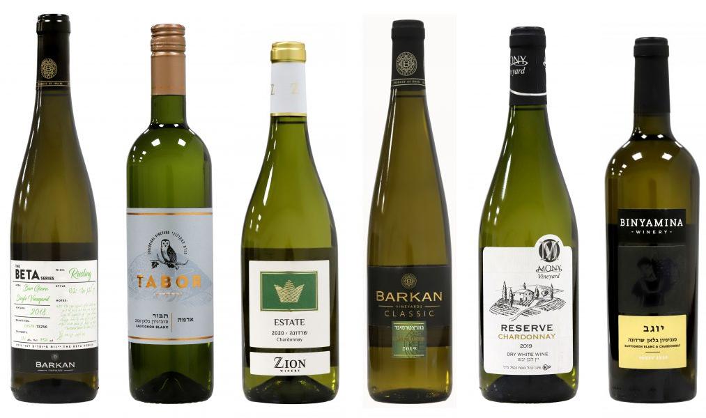 יינות לבנים מנצחים בתחרות בסט ווליו 2021. צילום: Sommelier