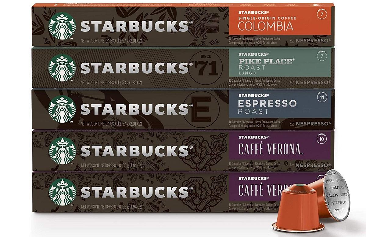 שרוולי קפסולות של סטארבקס. צילום: Starbucks