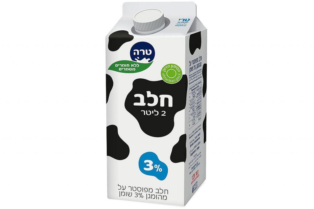 קרטון חלב טרה 3% שומן 2 ליטר
