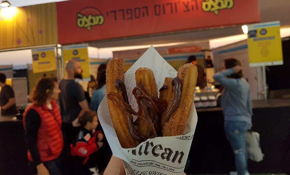 צ'ורוס ספרדי בפסטיבל Tel Aviv EAT