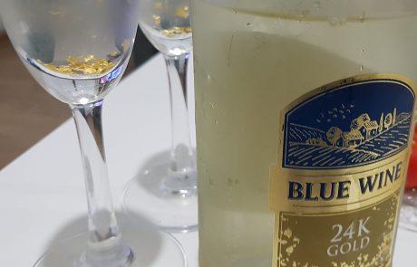 בלו נאן זהב 24K – יין לבן מבעבע עם טוויסט מנצנץ