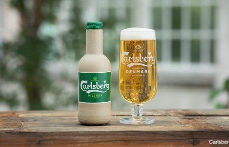 קרלסברג מפתחת בקבוק בירה אקולוגי מתכלה