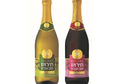 חדש: יין תירוש מבעבע של יקבי כרמל, כי גם לילדים מגיע לחגוג