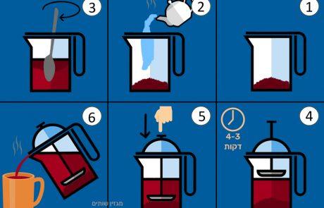 איך מכינים קפה בפרנץ' פרס (פלנג'ר)