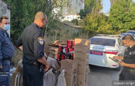 """המשטרה תפסה 570 ק""""ג של קפה טורקי מזויף בעפולה, בן 50 נעצר"""