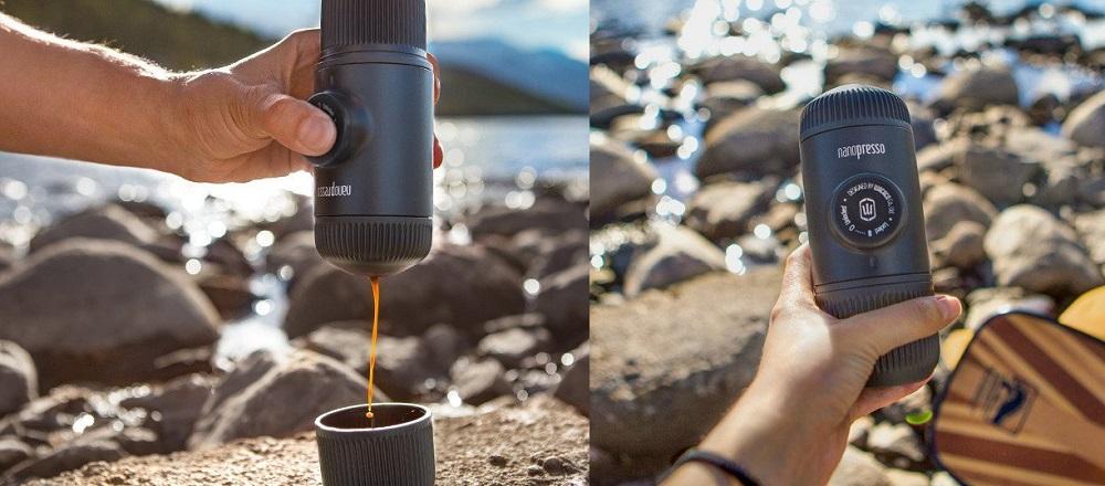 ננופרסו להכנת קפה בשטח. מתוך wacaco.com